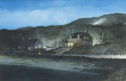 Lot 67 - * AVRIL PATON, HEADLIGHTS, 1998 watercolour on...
