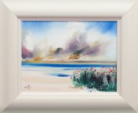 Lot 98 - * ROSANNE BARR, POPPIES AND A STORM oil on...
