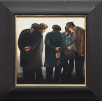 Lot 149 - * SAM SKELTON, THE PENNY HAS DROPPED oil on...