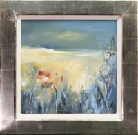 Lot 150 - * MARY DAVIDSON, SUMMER GRASSES, MULL oil on...