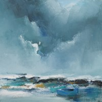 Lot 156 - JACKIE GARDINER, STORM APPROACHING; and WINTER...