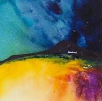 Lot 170 - MARTIN OATES, AUTUMN SKIES, MULL watercolour...