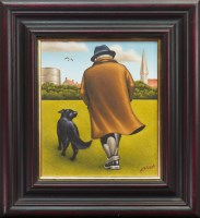 Lot 175 - * GRAHAM H D MCKEAN, MAN AND HIS DOG oil on...