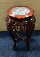 Lot 511-TWO 20TH CENTURY CHINESE MARBLE TOPPED PLANT...