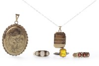 Lot 11-GROUP OF VARIOUS JEWELLERY comprising a nine...