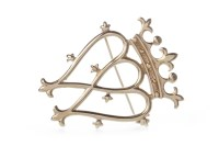 Lot 20-NINE CARAT GOLD LUCKENBOOTH BROOCH in the form of ...
