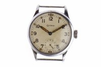 Lot 760-GENTLEMAN'S GRANA MILITARY ISSUE STAINLESS STEEL...