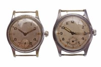 Lot 761-TWO GENTLEMAN'S MILITARY ISSUE STAINLESS STEEL...