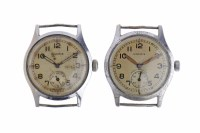 Lot 762-TWO GENTLEMAN'S MOERIS MILITARY ISSUE STAINLESS...