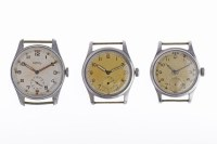 Lot 763-GENTLEMAN'S ROTARY MILITARY ISSUE STAINLESS STEEL ...