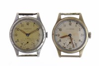 Lot 765-TWO GENTLEMAN'S LEONIDAS MILITARY ISSUE STAINLESS ...