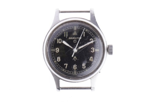 Lot 768-GENTLEMAN'S HAMILTON MILITARY ISSUE STAINLESS...