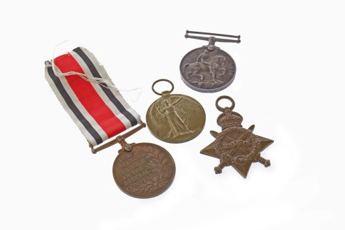 Lot 1236-WWI MEDALS AWARDED TO 46020 PTE J.W. BOYD...