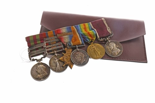 Lot 1253-GROUP OF WWI MEDALS AWARDED TO 4487 B. HOUSTON...
