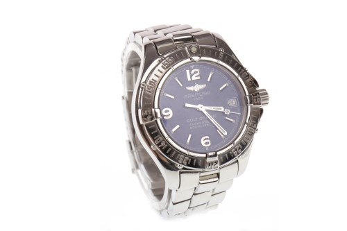 Lot 881 - LADY'S BREITLING COLT OCEANE STAINLESS STEEL...