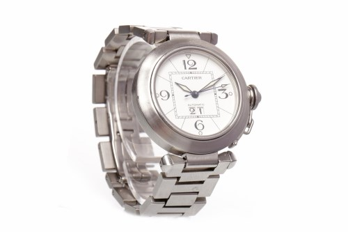 Lot 882 - GENTLEMAN'S CARTIER PASHA AUTOMATIC STAINLESS...