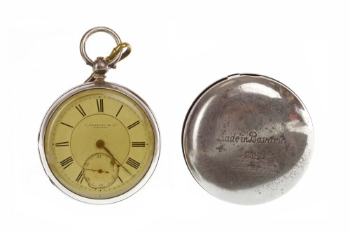 Lot 928 - VICTORIAN SILVER OPEN FACE POCKET WATCH the...