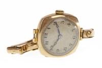 Lot 937 - LADY'S EARLY TWENTIETH CENTURY NINE CARAT GOLD...