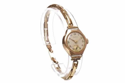 Lot 967 - LADY'S PAREX NINE CARAT GOLD MANUAL WIND WRIST...