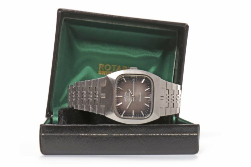 Lot 972 - GENTLEMAN'S ROTARY STAINLESS STEEL AUTOMATIC...