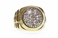 Lot 27-GENTLEMAN'S DIAMOND SET WATCH STYLE RING with a...