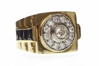 Lot 28-GENTLEMAN'S DIAMOND SET WATCH STYLE RING with a...