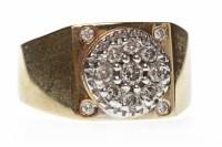Lot 30-GENTLEMAN'S DIAMOND SET RING the square bezel...