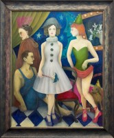 Lot 3-* ANNA PHELPS, BACKSTAGE oil on canvas, signed...