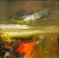 Lot 9-* ROSANNE BARR, FIRE LIGHT oil on canvas,...