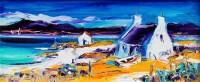 Lot 12-* JEAN M FEENEY, BARRA SHORES oil on canvas...