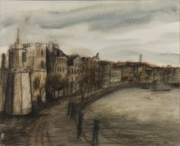 Lot 13-* STEPHANIE DEES RSW, THE SHORE mixed media,...