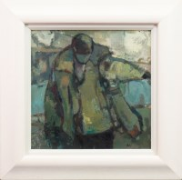 Lot 26-* MOIRA KELMAN, BEANIE MAN oil on canvas,...