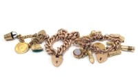 Lot 14-EARLY TWENTIETH CENTURY CURB LINK BRACELET...