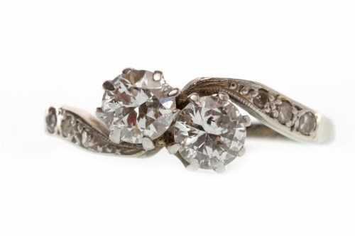 Lot 17-EARLY TWENTIETH CENTURY EIGHTEEN CARAT WHITE...