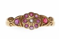 Lot 22-VICTORIAN EIGHTEEN CARAT GOLD RUBY AND DIAMOND...