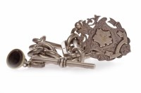 Lot 764-VICTORIAN SILVER WATCH CHAIN with Birmingham...