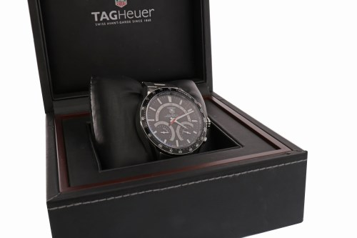 Lot 768-GENTLEMAN'S TAG HEUER CARRERA CALIBRE S LAPTIMER...