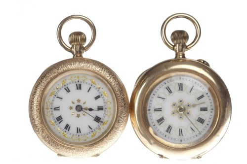 Lot 813 - TWO LADY'S NINETEENTH CENTURY CONTINENTAL FOB...