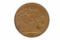 Lot 505-GOLD SOVEREIGN DATED 1911