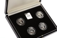 Lot 506-ROYAL MINT UNITED KINGDOM £1 SILVER PROOF...