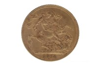 Lot 510-GOLD SOVEREIGN DATED 1914