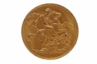 Lot 519-GOLD SOVEREIGN DATED 1910