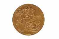 Lot 520-GOLD SOVEREIGN DATED 1913