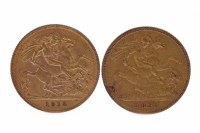 Lot 522-GOLD HALF SOVEREIGN DATED 1912 AND ANOTHER...