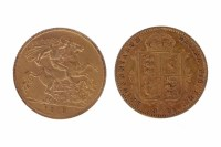 Lot 523-GOLD HALF SOVEREIGN DATED 1912 AND ANOTHER...