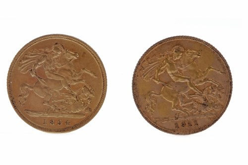 Lot 525-GOLD HALF SOVEREIGN DATED 1894 AND ANOTHER DATED...