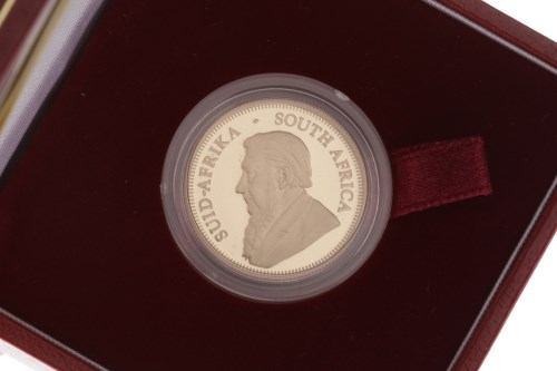 Lot 543-GOLD PROOF SOUTH AFRICAN 1/4 KRUGERRAND DATED...