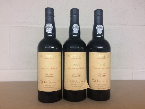 Lot 13-BURMESTER 1985 LATE BOTTLED VINTAGE RUBY SWEET...