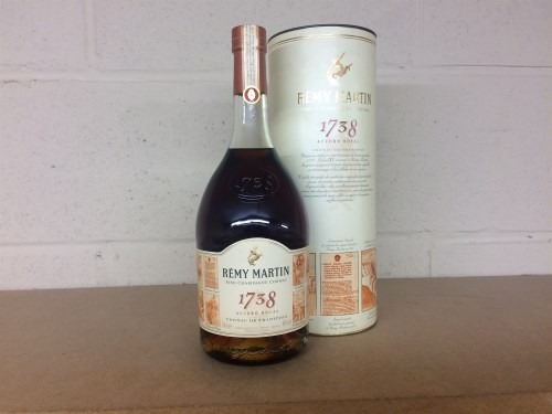 Lot 22-REMY MARTIN 1738 Fine Champagne Cognac, France....