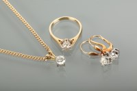 Lot 1212 - SUITE OF DIAMOND JEWELLERY comprising a...